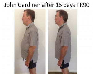 John Gardiner after 15 days TR90